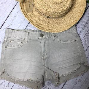Free People natural colored  denim shorts